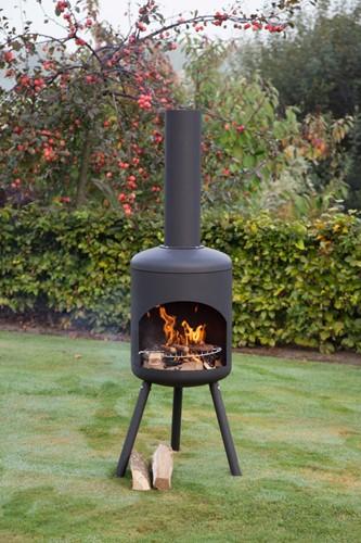 RedFire terrashaard Fuego Large, diam. 40 cm, hoogte 145 cm, zwart staal-2