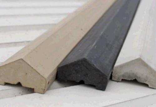Afdekkap met dakje, 90 cm, wit beton