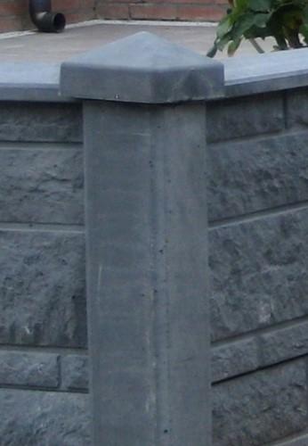 betonnen paalornament met diamantkop, antraciet