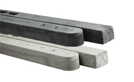 Kühlkamp beton tussenpaal/eindpaal antraciet voor hout/betonschutting 10x10 met rechtscherm, lengte 310 cm, ruw