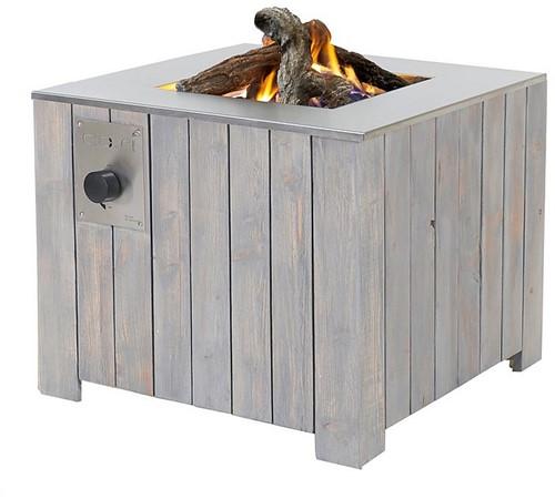Cosi Fires vuurtafel Cosicube 70, afm. 70 x 70 cm, hoogte 58 cm, 9kW, douglas hout in grey wash