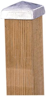paalornament metaal piramide 7x7 cm