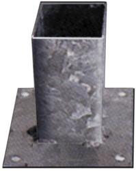 paalhouder op plaat verzinkt  9 x 9 cm