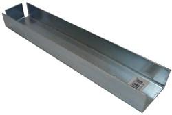 u-profiel voor muuraansluiting hout/betonschutting 10x10 beton