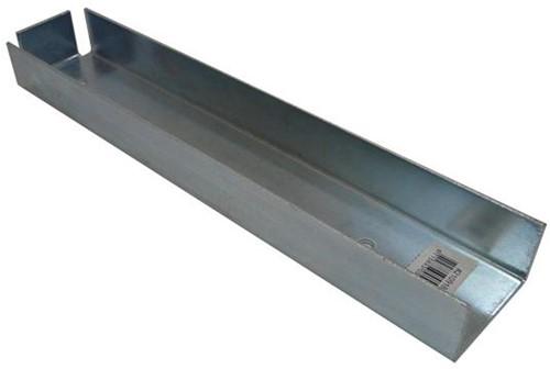 u-profiel voor muuraansluiting hout/betonschutting 10x10 beton verzinkt