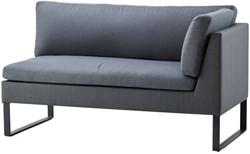 Cane-line Flex 2 persoons lounge bank, linker module - grijs