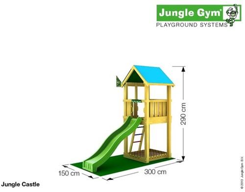 Jungle Gym speeltoren Jungle Castle, montagekit inclusief glijbaan en houtpakket op maat gezaagd-2