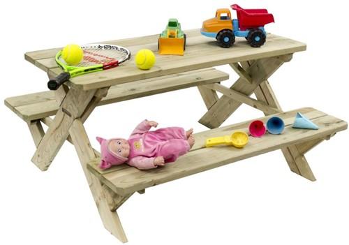 Kinderpicknicktafel, 98 x 93 cm. geïmpregneerd vuren