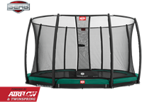 BERG InGround Champion Green + Safety Net Deluxe