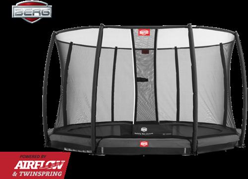BERG InGround Champion Grey + Safety Net Deluxe