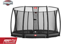 BERG InGround Champion Grey + Safety Net Deluxe