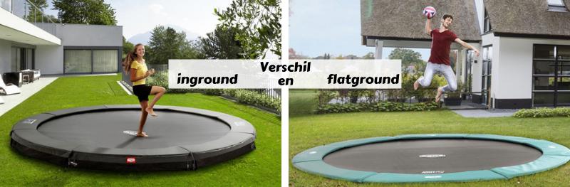 Verschil inground en flatground trampoline
