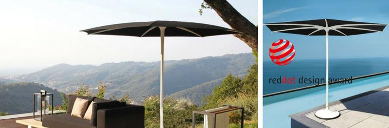 Palma parasol, een elegant design met een uniek gebruiksgemak!