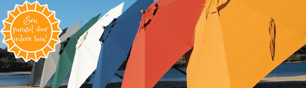 BuitenDesign groep 675 parasols en zonnezeilen