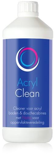 AcrylClean voor reinigen kuip en ombouw spabaden, fles 1 ltr