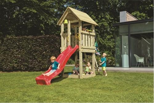 Blue Rabbit 2.0 - speeltoren Kiosk, incl. houtpakket en glijbaan
