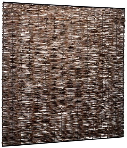 wilgentenen vlechtmat in metaalframe, afm. 120 x 180 cm