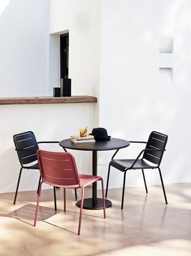 Cane-line Copenhagen stoel met armleuiningen - lava-grey