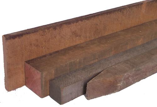 hardhout ruw   20 x 150 - 400 cm (b.m.)
