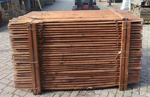 cilindrisch halfronde palen Ø5 - 180 geïmpregneerd bruin-3