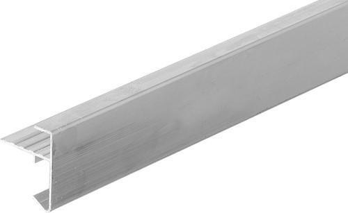 Daktrim recht voor tuinhuis/overkapping plat dak t/m 1500 x 600 cm, aluminium-2