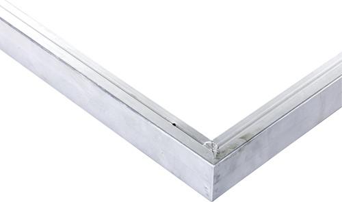 Daktrim recht voor tuinhuis/overkapping plat dak t/m 605 x 450 cm, aluminium