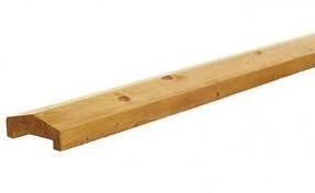 meerprijs geïmpregneerde houten afdekkap voor rechtschermen, per 1,9 m