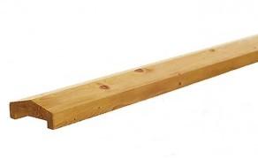 Afdekkap met dakje, afm. 3,5 x 8,5 cm, lengte 180 cm, geïmpregneerd grenen