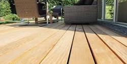 Afri-kulu terrasplank, B-fix Classic, afm.  2,5 x  9,5 cm, per strekkende meter