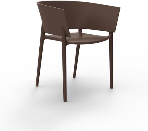 Vondom Africa stoel, afm. 58 x 53 x 75 cm,  brons