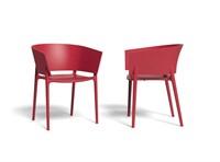 Vondom Africa stoel, afm. 58 x 53 x 75 cm, rood-2