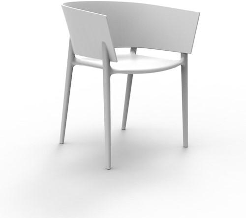 Vondom Africa stoel, afm. 58 x 53 x 75 cm, wit