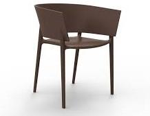 Vondom Africa stoel, afm. 58 x 53 x 75 cm, zwart