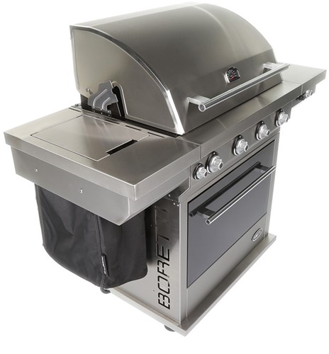 Boretti BBQ afvalhoes, grijs-2