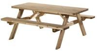 Picknicktafel, bladmaat 177 x 74 cm, geimpregneerd grenen, houtdikte 42 mm, opklapbare zittingen