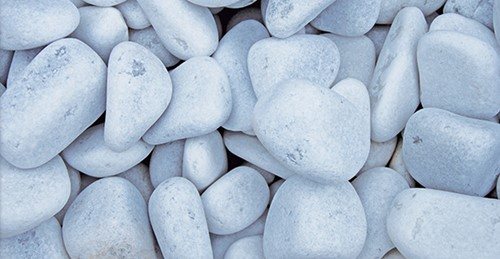 Stenen Alpi, afm. 5 - 10 cm, wit, voor 1 muurkorf (0,13 m3)