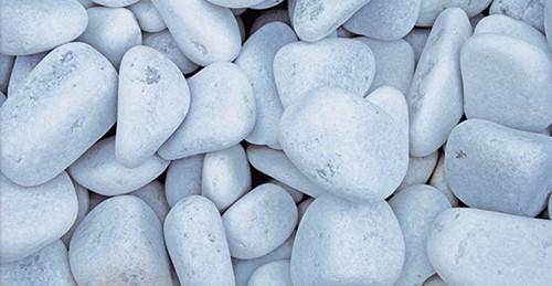 Stenen  Alpi, afm. 5 - 10 cm, wit, voor 3 muurkorven (0,39 m3)