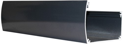 Aluminium goot voor douglas veranda Excellent, antraciet RAL 7016, lengte 500 cm