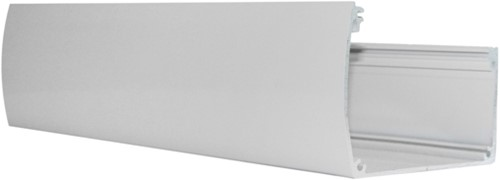 Aluminium goot voor douglas veranda Excellent, wit RAL 9001, lengte 400 cm