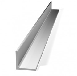 Hoeklijn, afm. 4 x 6 x 300 cm, dikte 2 mm, aluminium