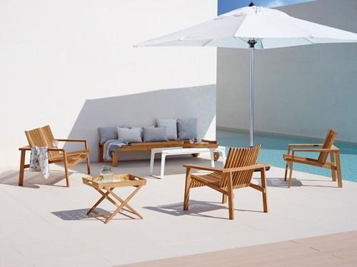 Cane-line Amaze stapelbare lounge stoel - teak-2