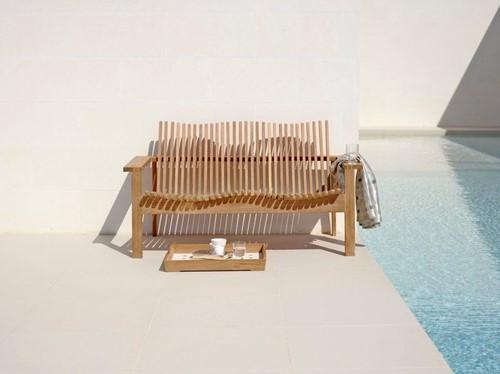 Cane-line Amaze stapelbare lounge sofa - teak-2