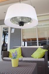 Sunred elektrische terrasheater Artix, halogeen, vermogen 1800 W, hangmodel, wit