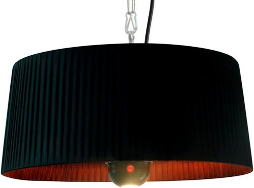 Sunred elektrische terrasheater Artix, halogeen, vermogen 1800 W, hangmodel, zwart