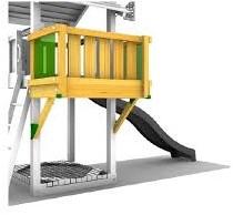 Houtpakket voor Jungle Gym Balcony module, op maat gezaagd-2
