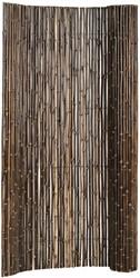 bamboe tuinscherm op rol, afm. 180 x 180 cm, black