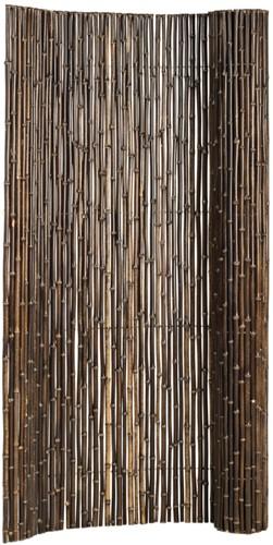 bamboe tuinscherm op rol, afm. 180 x 180 cm, bruin/zwart