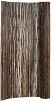 bamboe tuinscherm op rol 180 x 100 cm, bruin/zwart