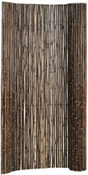 bamboe tuinscherm op rol 180 x 100 cm, black