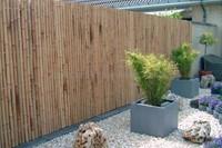 bamboe tuinscherm op rol, afm. 180 x 180 cm, bruin/zwart-2